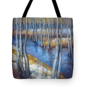 Spring River Thaw Tote Bag