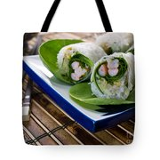 Spring Rolls Tote Bag by Edward Fielding