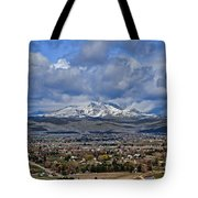 Spring Snow On Squaw Butte Tote Bag