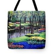 Spring Spendor Tulip Garden Tote Bag