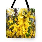 Spring - Sprig Of Forsythia Tote Bag