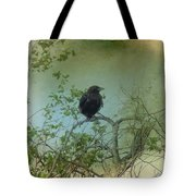 Spring Tree And Crow Tote Bag