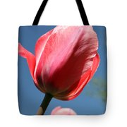 Spring Tulip Blues Tote Bag