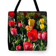 Spring Tulip Garden Tote Bag