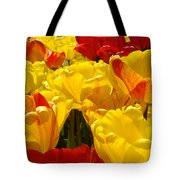 Spring Tulips Art Prints Yellow Red Tulip Flowers Tote Bag
