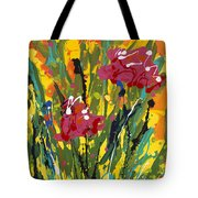 Spring Tulips Triptych Panel 3 Tote Bag