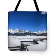 Spring View Of The Sawtooth Mountains Tote Bag