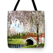 Spring Walk Around Lake Tote Bag