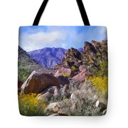 Spring Wildflowers At Anza Borrego Tote Bag