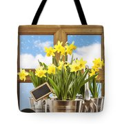 Spring Window Tote Bag by Amanda Elwell