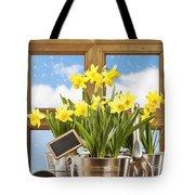 Spring Window Tote Bag