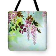 Spring Wisteria Tote Bag by Bedros Awak