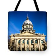 Springfield Illinois State Capitol Building Tote Bag by Paul Velgos