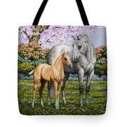 Spring's Gift - Mare And Foal Tote Bag
