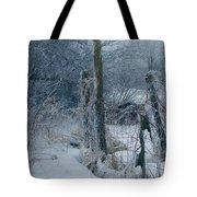 Springtime Icestorm Tote Bag