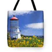 Springtime Lighthouse Tote Bag