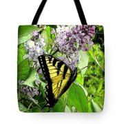 Springtime Moments- The Butterfly And The Lilac  Tote Bag