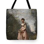 Springtime Of Life Tote Bag by Jean Baptiste Camille Corot