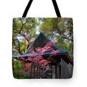 Springtime Pagoda Tote Bag