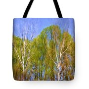 Springtime Trees Tote Bag
