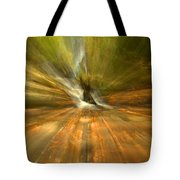 Spruce Flats Falls Explosion Tote Bag