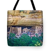 Spruce Tree House On Chapin Mesa In Mesa Verde National Park-colorado  Tote Bag