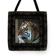 Sq Tiger Profile 6k X 6k Bboo Matt Tote Bag
