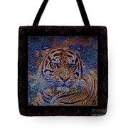 Sq Tiger Sat 6k X 6k Cranberry Wd2 Tote Bag