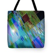 Square Black Holes Tote Bag