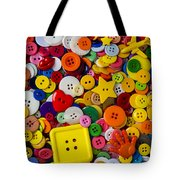Square Button Tote Bag by Garry Gay
