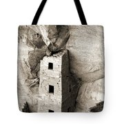 Square Tower House Tote Bag