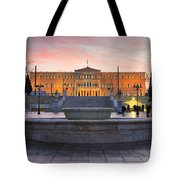 Square With A Fountain Tote Bag