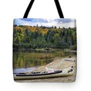 Squareback Canoe With Engine Tote Bag