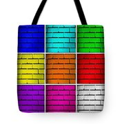 Squared Color Wall  Tote Bag