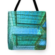 Squares And Triangles Tote Bag
