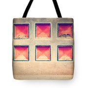 Squares In Wall Tote Bag