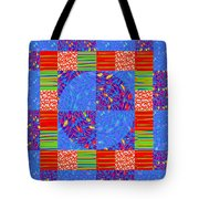 Squares Lines Dots Symbol Infinity Red Purple Blue Green Colorful Waves Unique Background Designs  A Tote Bag