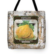 Squash On Vintage Tin Tote Bag
