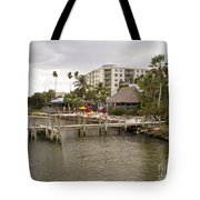 Squid Lips Restaurant  At The Eau Gallie Causeway Over The India Tote Bag