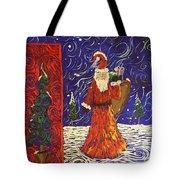 Squiggle Christmas Tote Bag