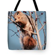 Squirrel Berry Tote Bag