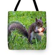 Squirrel Eats Mushroom Tote Bag