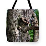 Squirrel Guarding Watering Knot Tote Bag