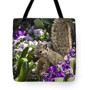 Squirrel In The Botanic Garden-dallas Arboretum V2 Tote Bag