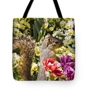 Squirrel In The Botanic Garden-dallas Arboretum V4 Tote Bag