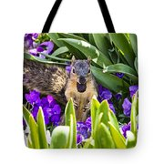 Squirrel In The Botanic Garden Tote Bag