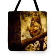 Squirrel With Pear Tote Bag
