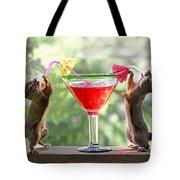 Squirrels At Cocktail Hour Tote Bag
