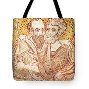 Saints Peter And Paul Embracing Tote Bag