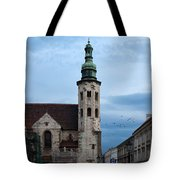 St. Andrew's Church In Krakow At Dusk Tote Bag
